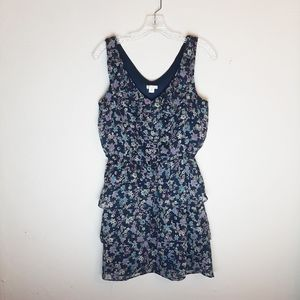 Floral Ruffled Sleeveless Mini Dress Xhilaration M